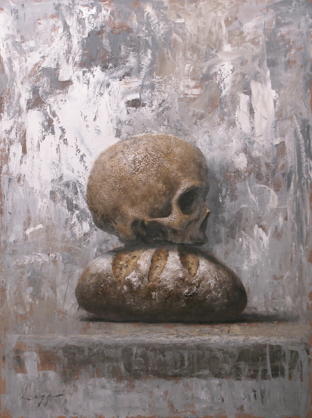By Bread Alone, 24 x 18, Jeff Legg