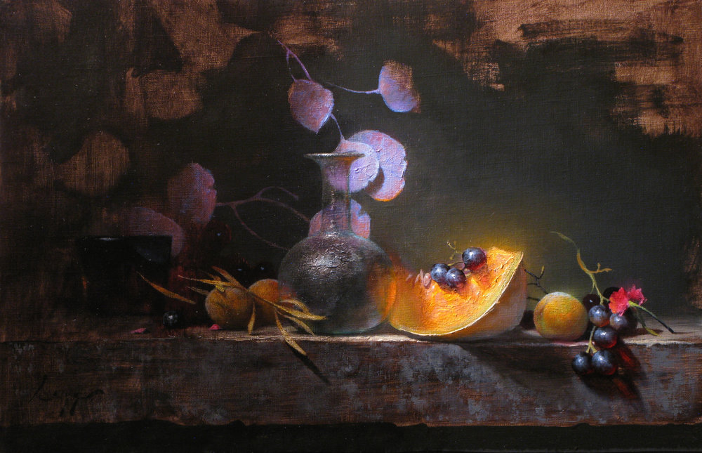 Eucalyptus and Melon, 12 x 18, by Jeff Legg