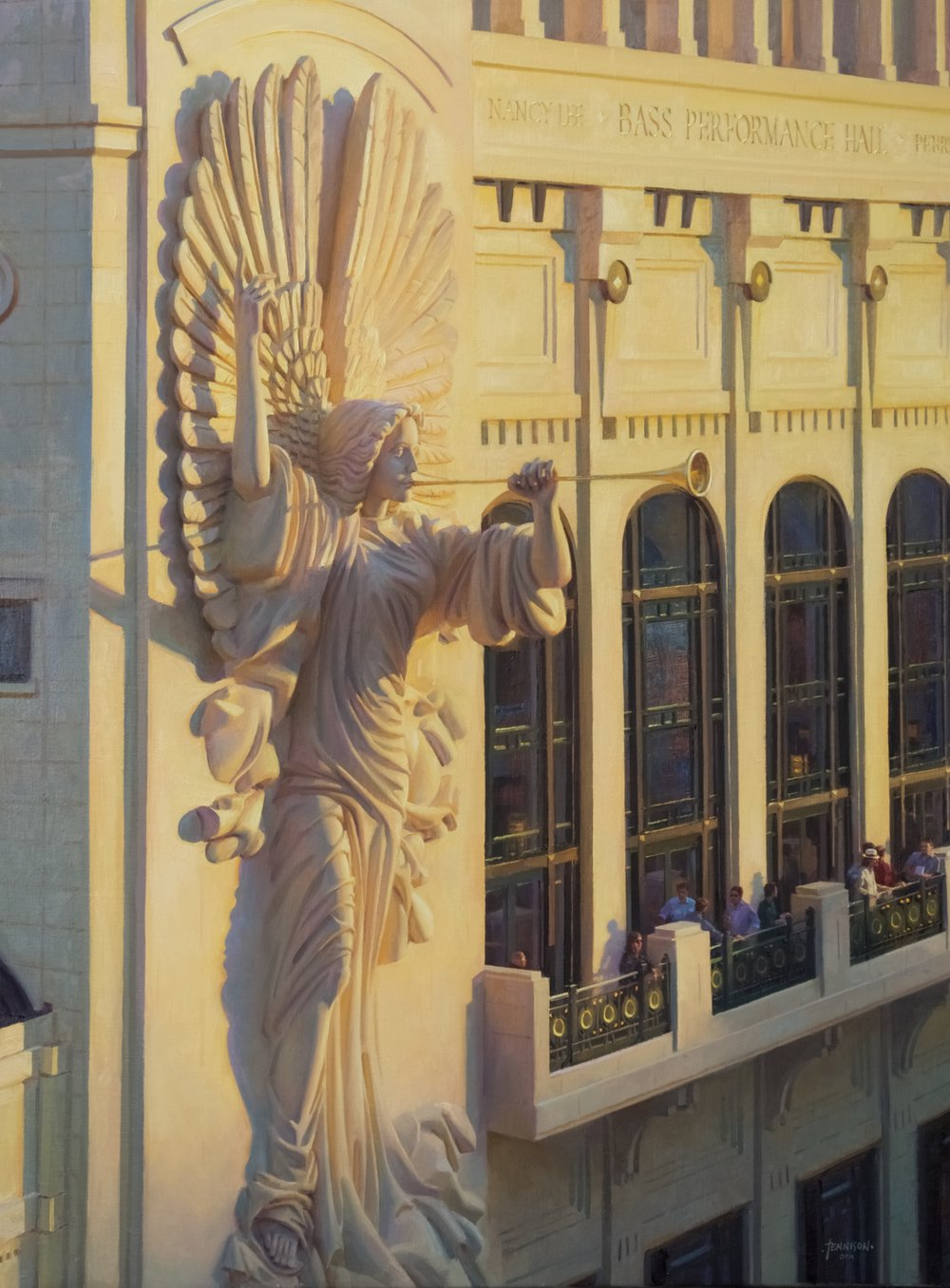 Evening Light on Bass Hall, 36 x 24, by James Tennison