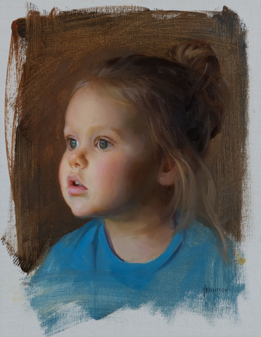 Lily, 14 x 11, by James Tennison