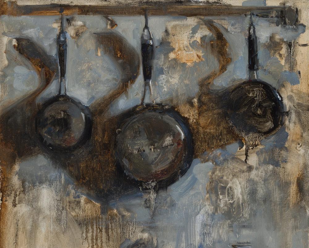 Hanging Pots, 15 x 12, 2018