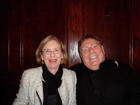"Margaret Brouwer  with conductor Gerhardt Zimmermann after the performance of ""Remembrances"" with the Canton Symphony Orchestra"