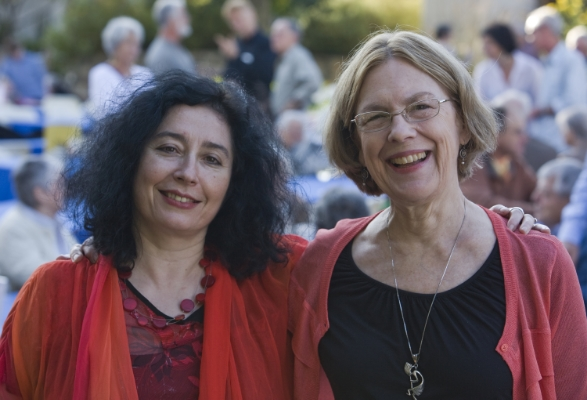 Enjoying the festival with Elena Kats-Chernin