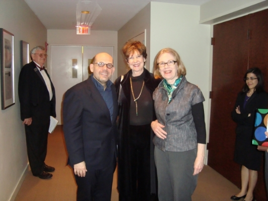 Jaap van Zweden, Ellen Rose, Margaret Brouwer after a Dallas Symphony concert