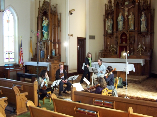 "Recording of ""Quintet"" with the Maia String Quartet and Daniel Silver on clarinet"