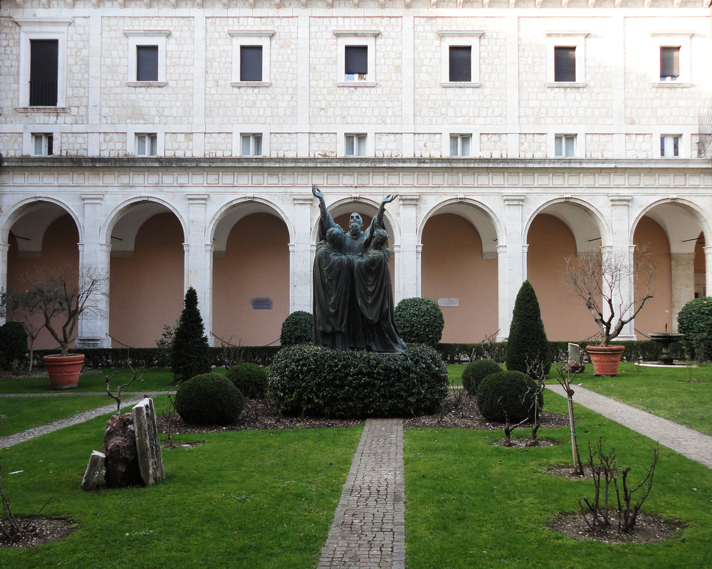 Cloister Garden, Montecassino  — The place where Saint Benedict wrote The Rule and died