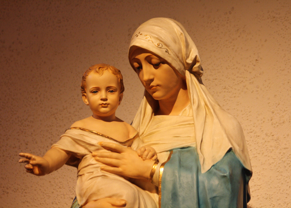 Madonna and Child Statue