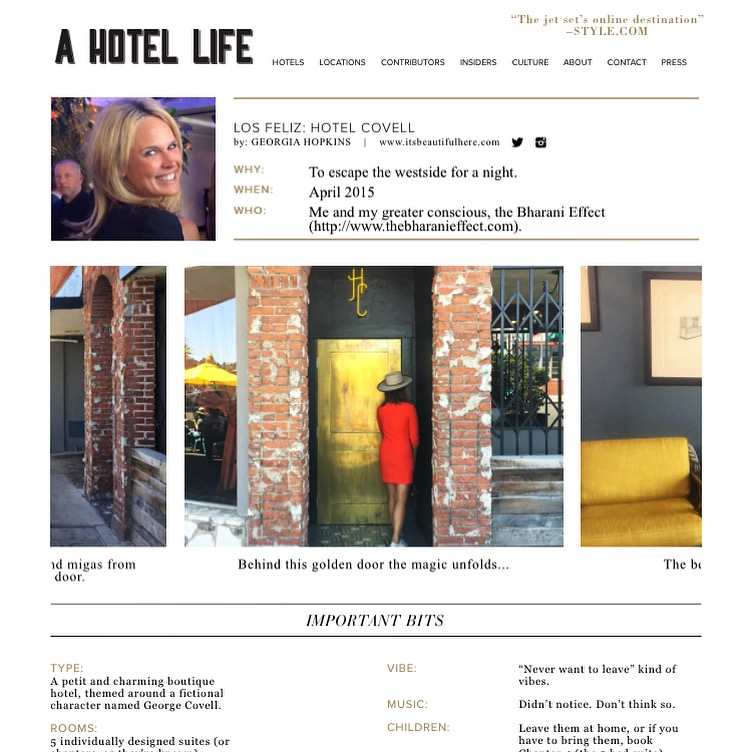 a hotel life |  hotel covell  | april 2015.