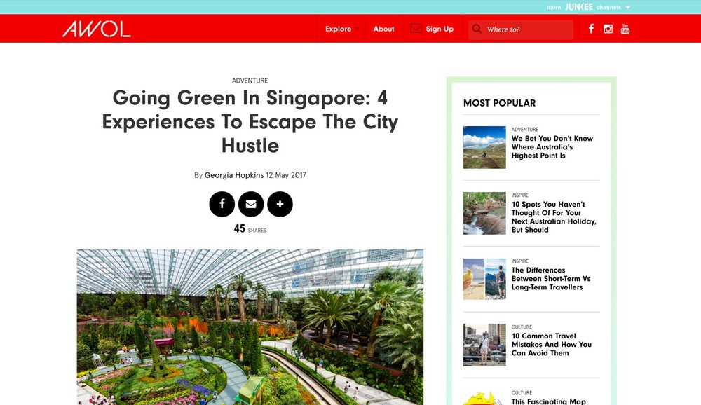 AWOL | Going Green in Singapore | May 2017.