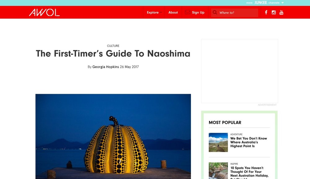 AWOL |  The first-timer's guide to Naoshima  | May 2017.