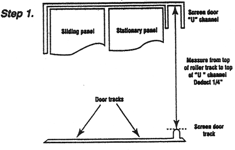 Sliding Screen Door Measurement Guide Avenue Glass And Screen Company