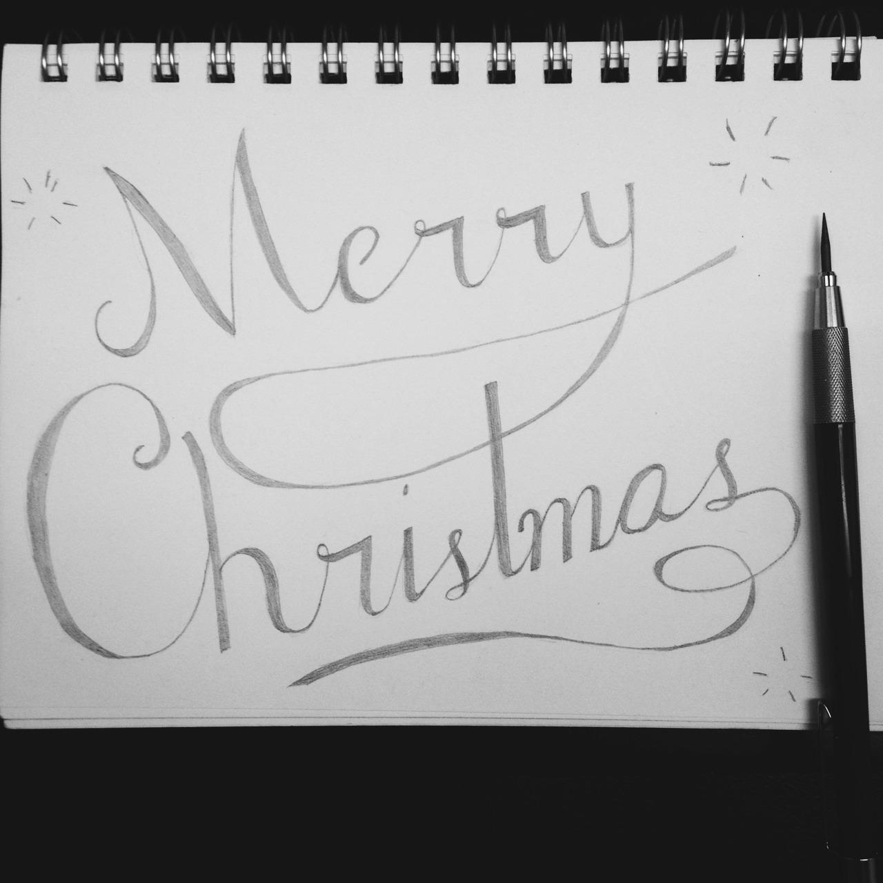 Christmas doodling #lettering #handdrawn