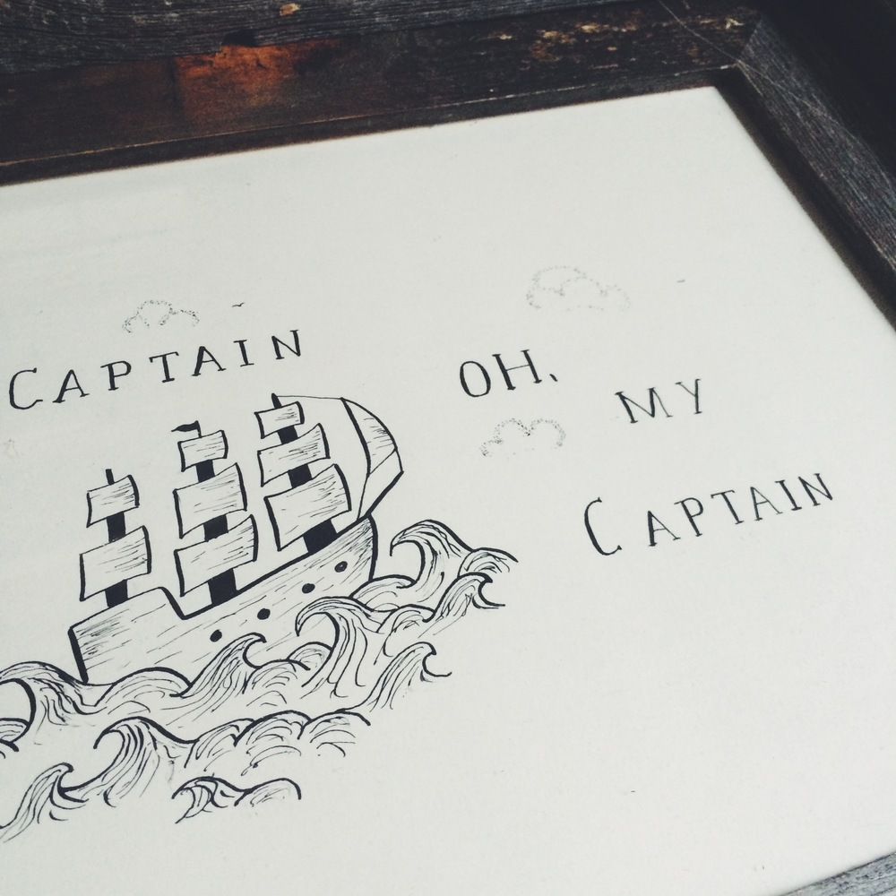 """Captain Oh My Captain in TheWorley.co/shop"