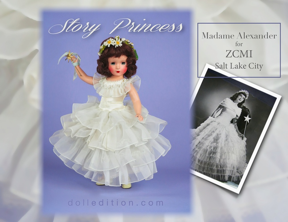 "A very rare doll - 14"" early hard plastic Story Princess for ZCMI Department Stores. The Story Princess read children's stories on KSL Radio every day from 5:00 to 5:15."