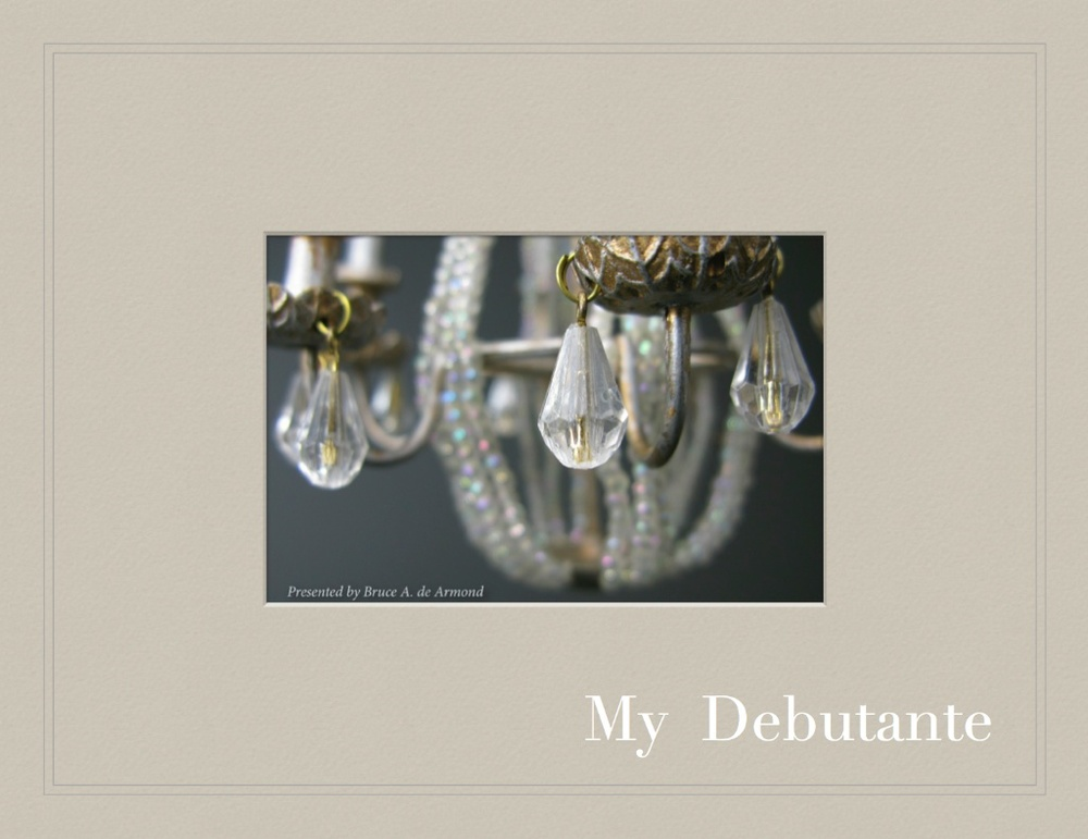 My Debutante - a celebration of  Richard Bostard  and his vision. Interrupted by his Alzheimer's, this tribute at the MADC Philadelphia Convention will be auctioned off. This hardcover book comes with the doll, and wardrobe.