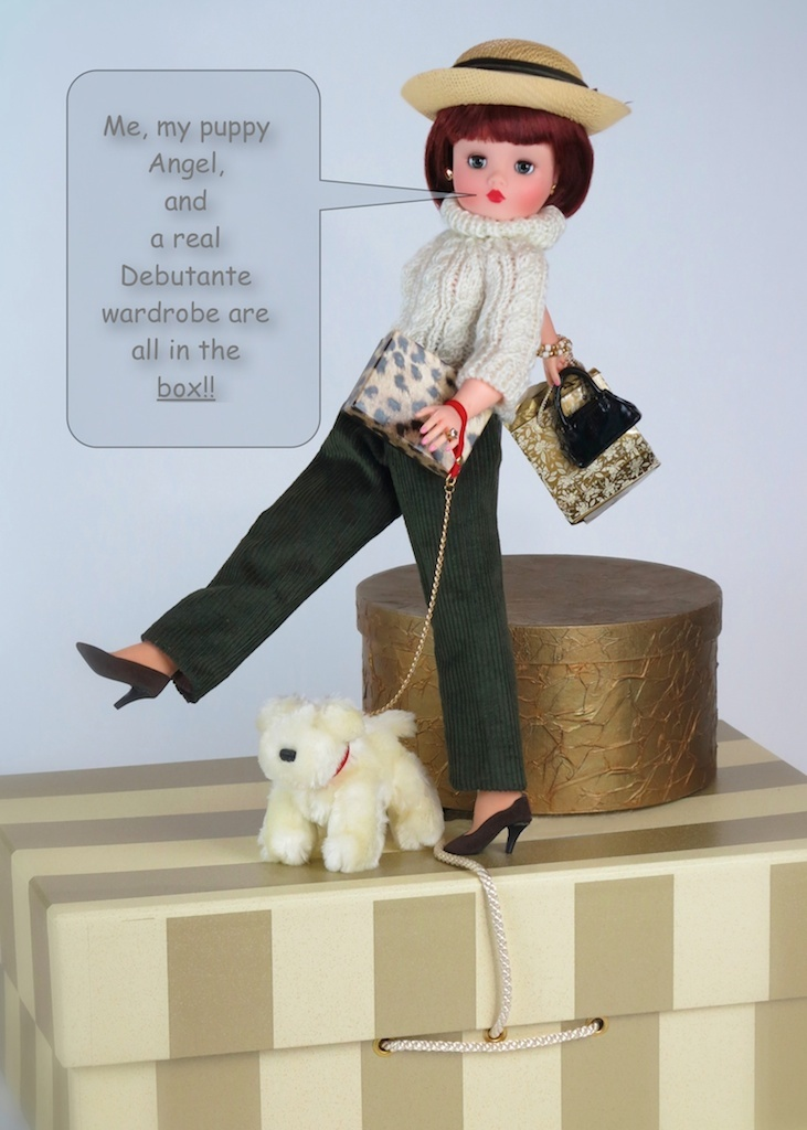 Walking Angel - out and about town with her puppy Angel. Together,  they are ready for the Debutante experience!