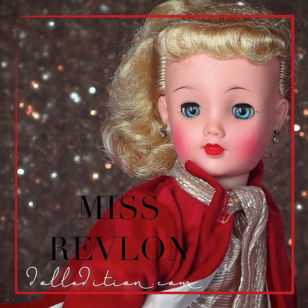 1958 #3675 is quite a stunning doll with an asymmetrical platinum pony tail. high check color and red/gold print skirt that was also used for Cissy by Madame Alexander.