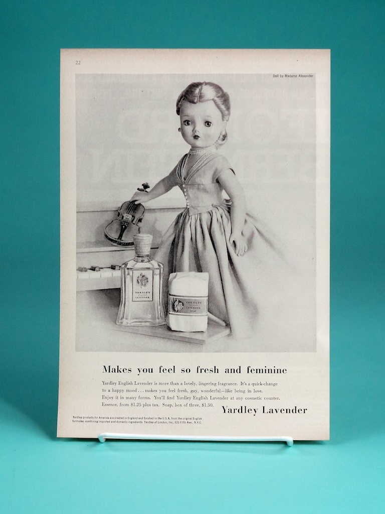 "Some ads were created in both black & white and in color — some were only done in black & white. Aiming specifically to women's home magazines, with Cissy as ""spokeswomen"" was innovative advertising at the time right out of ""Madmen."""