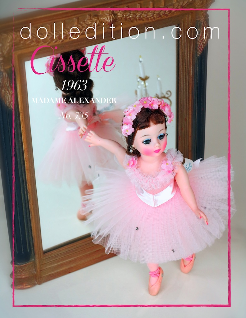 Rare Jacqueline faced Cissette 1963 Ballerina No. 735 mint in box.