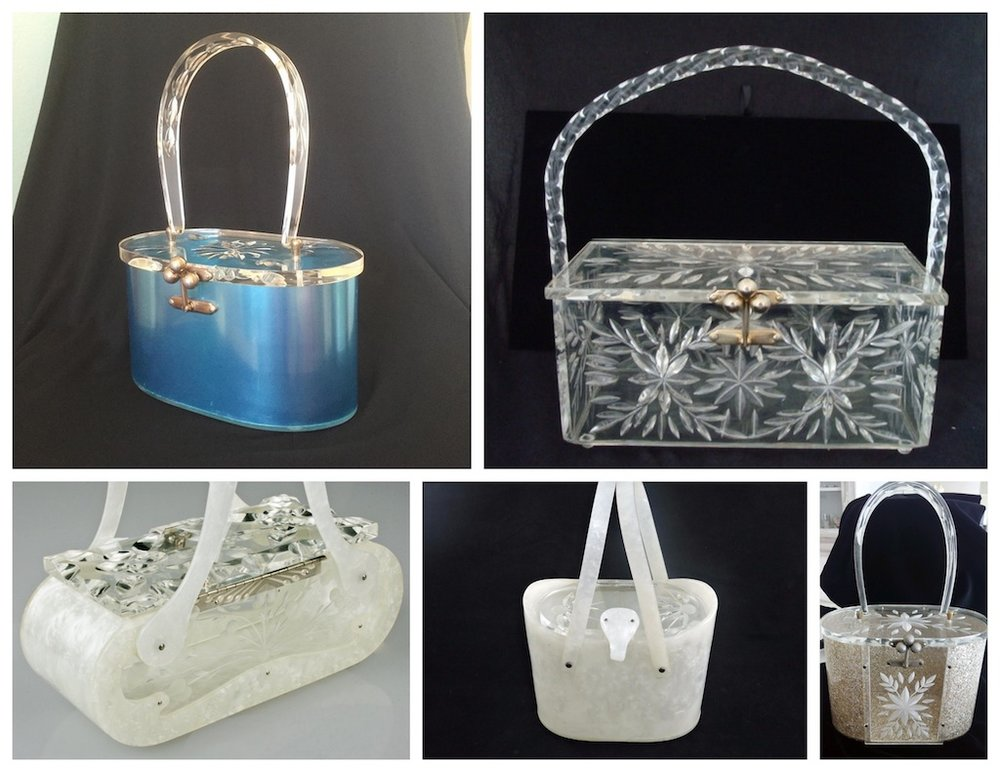 The Lucite purse came in many shapes, colors and styles and was used in both formal and casual fashion.