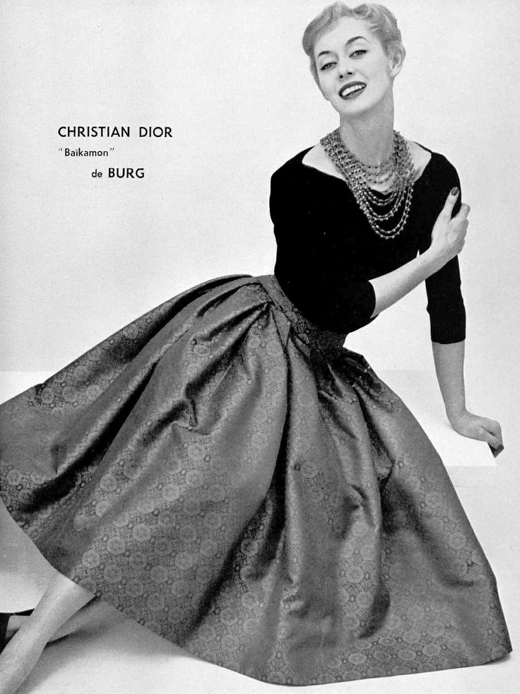 Christian Dior and the full circle skirt.