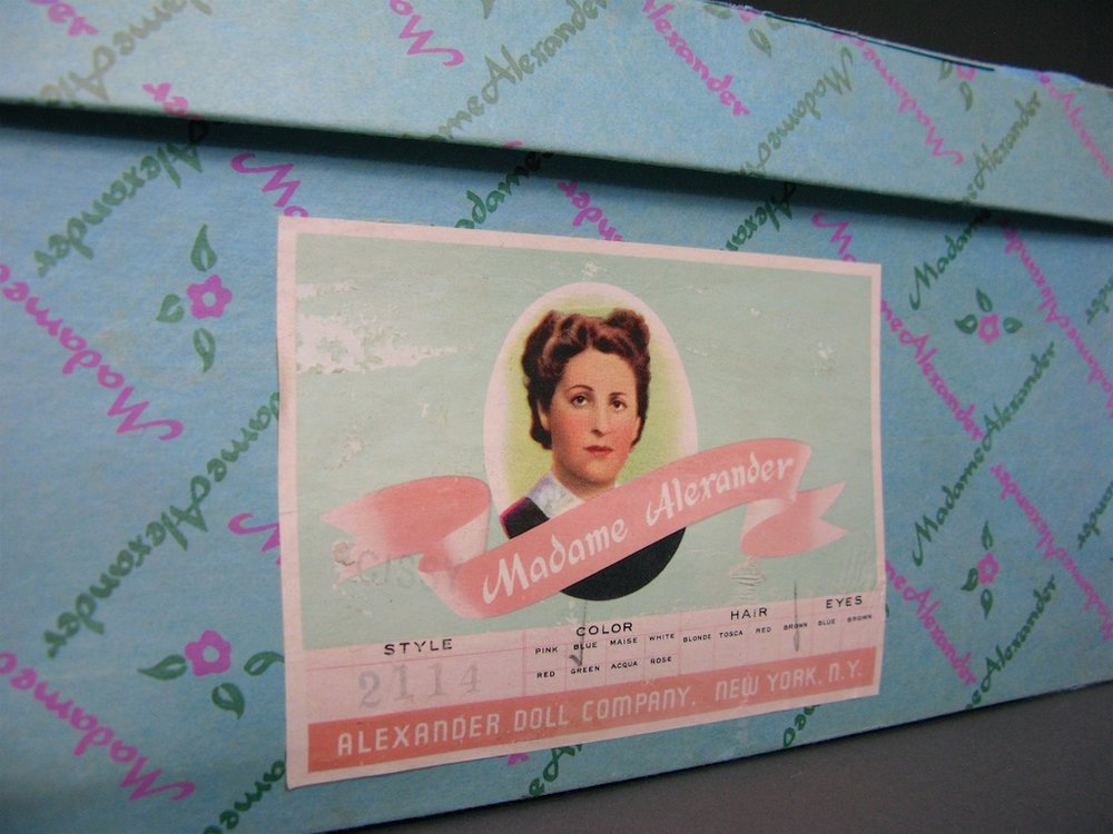 The Madame Alexander Box for Cissy No. 2114 - marked with the dolls name, style number and hair color.