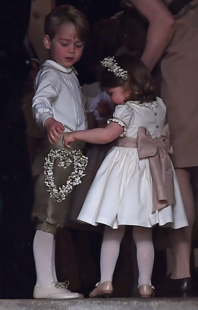 Prince George and his little sister Princess Charlotte