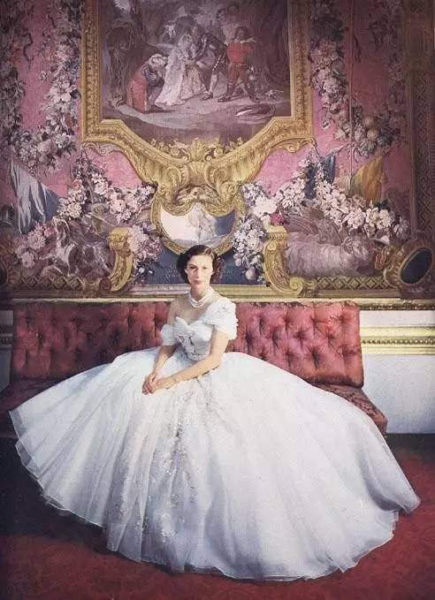 Princess Margaret in Dior - she was a regular at his fashion shows in the early 1950s.