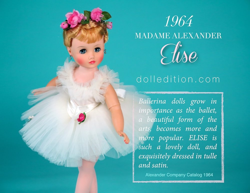 Elise 1964 White Ballerina No. 1720 by Madame Alexander