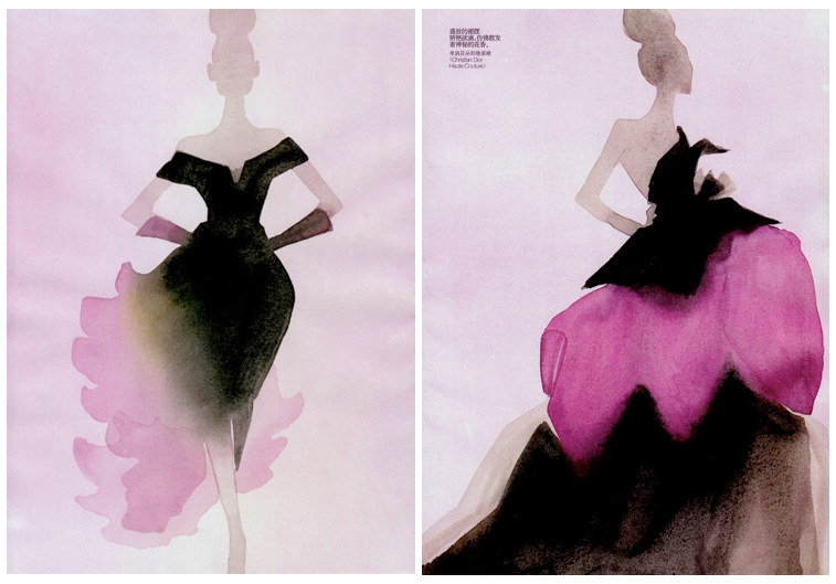 Christian Dior designs for Vogue China, December 2010