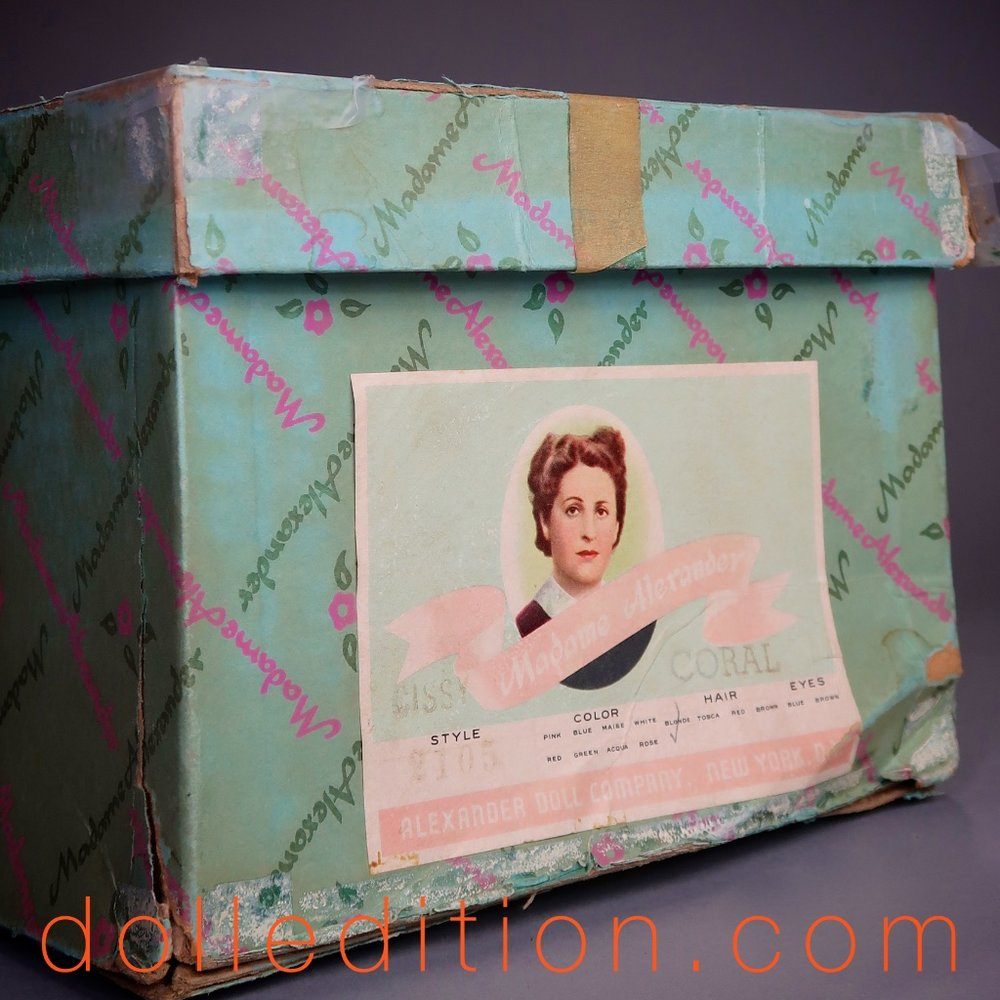 The box for 1957 Cissy No. 2105 by Madame Alexander.