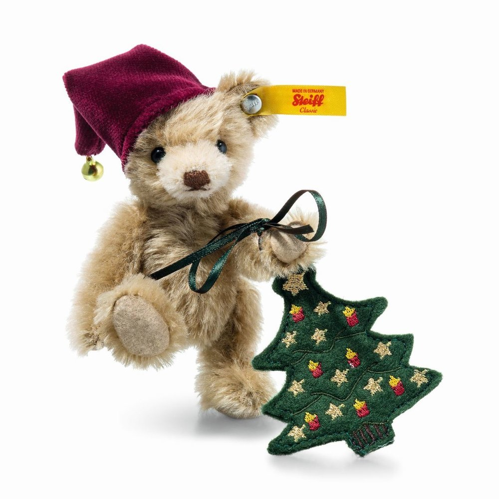 Nic Teddy Bear With Christmas Tree
