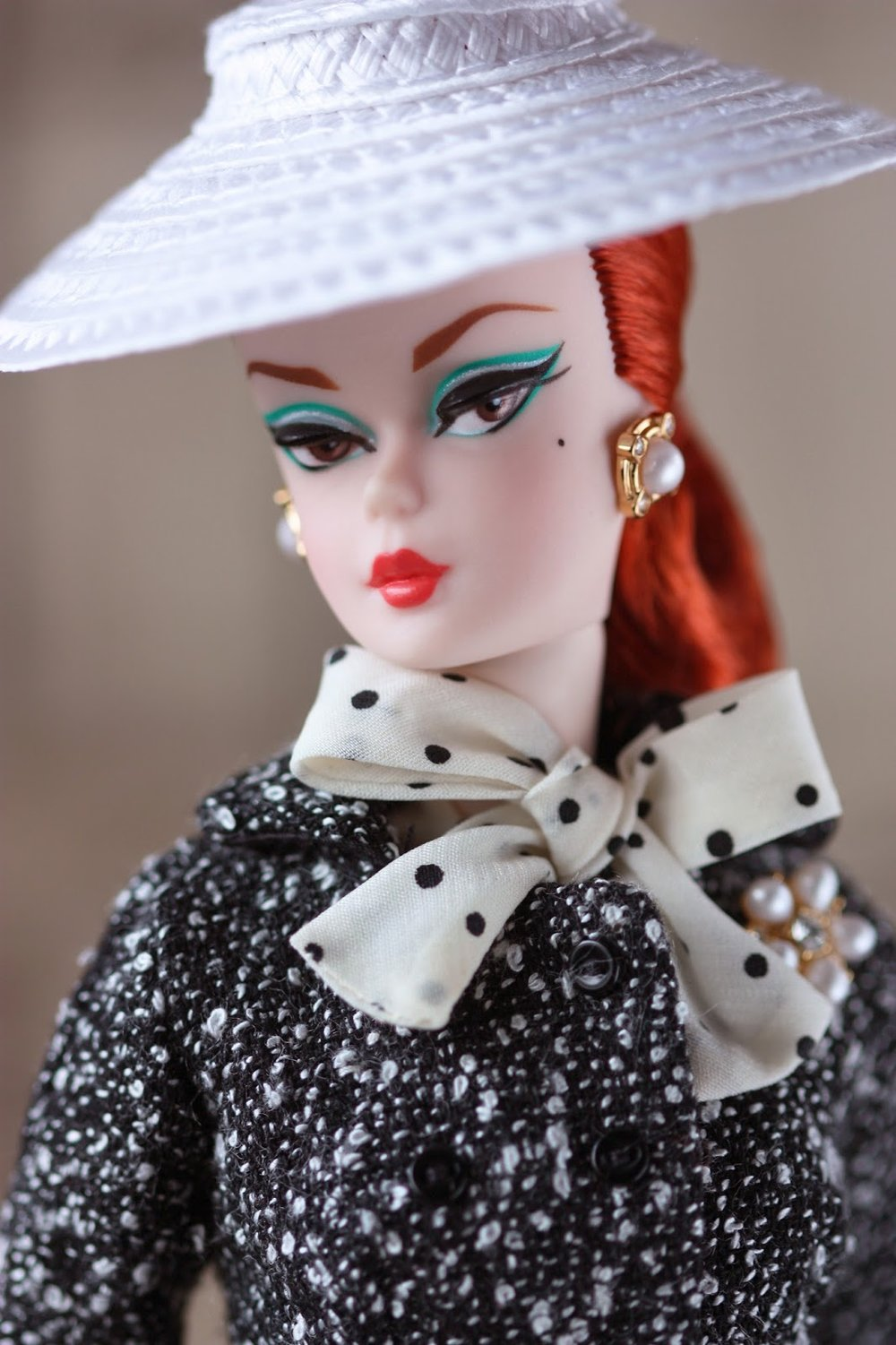 Black & White Tweed Barbie