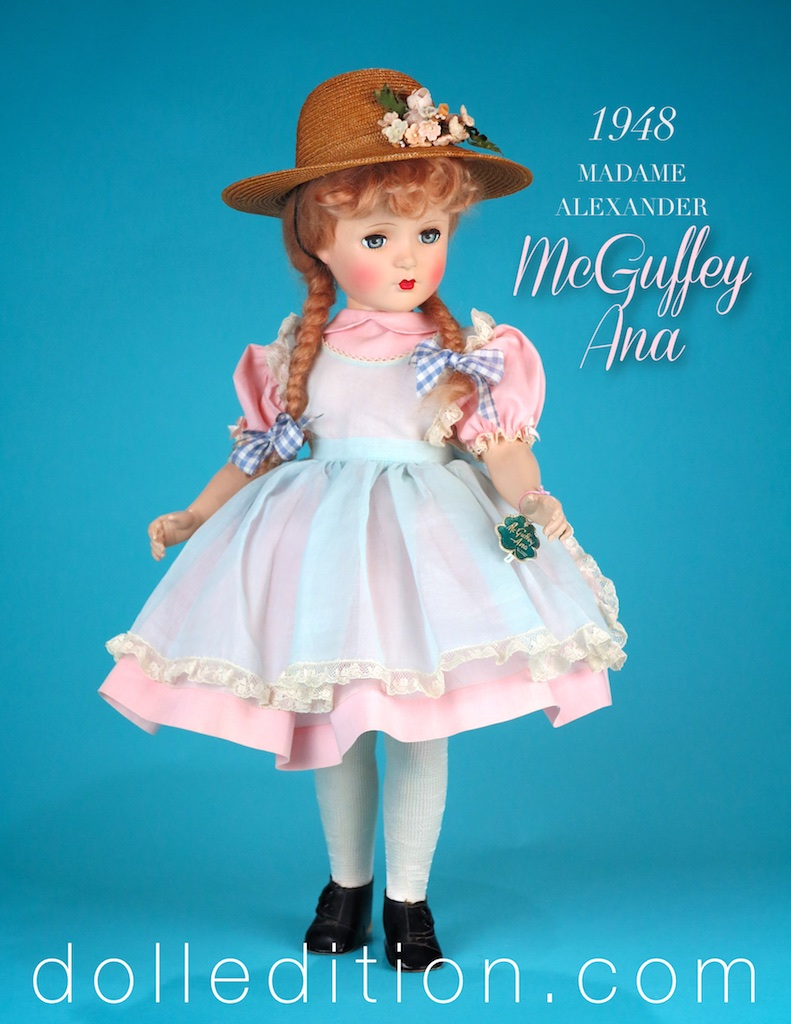 McGuffey Ana was a popular character from the  McGuffey Readers  used in many schools from the 1830s to the mid 20th Century. One of Madame's purposes for her dolls was to inspire a girl to read and explore.