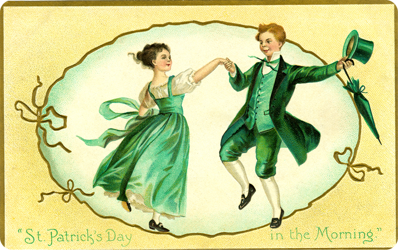 For  Saint Patric's Day , Ireland celebrates the heritage and culture of the  Irish  in general. Celebrations generally involve public parades and festivals, cèilidhs, and the wearing of green attire or shamrocks.