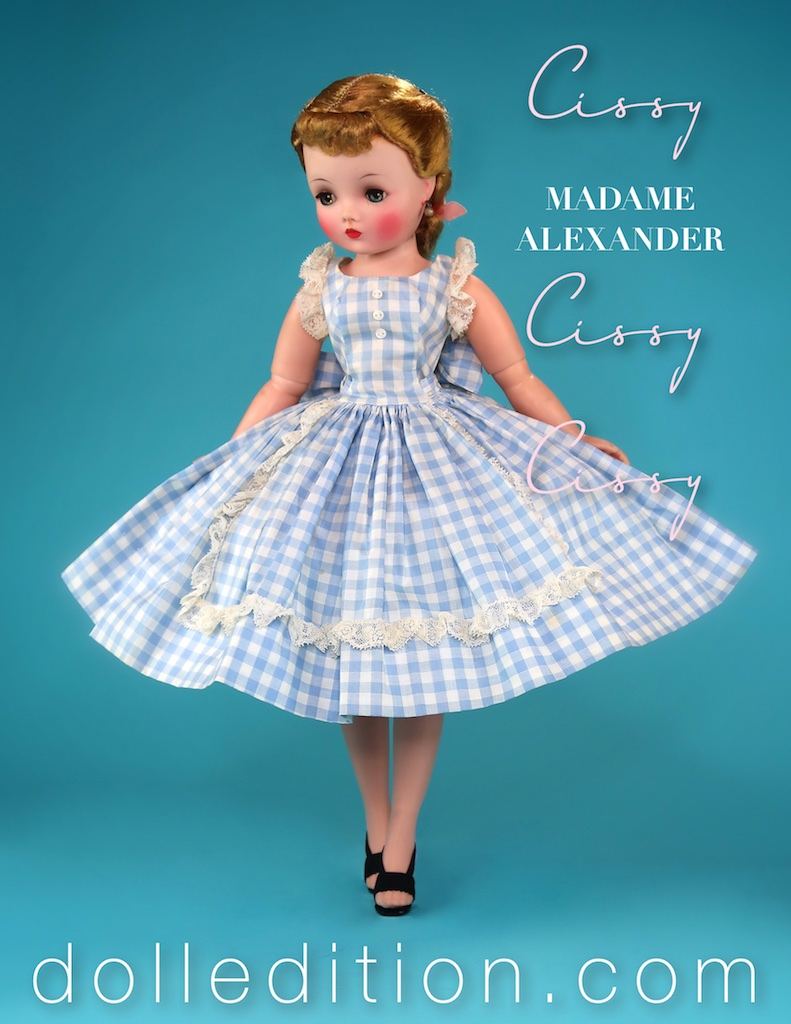 The cotton day dress was one of the staples of extra boxed clothing developed by Madame Alexander for Cissy.