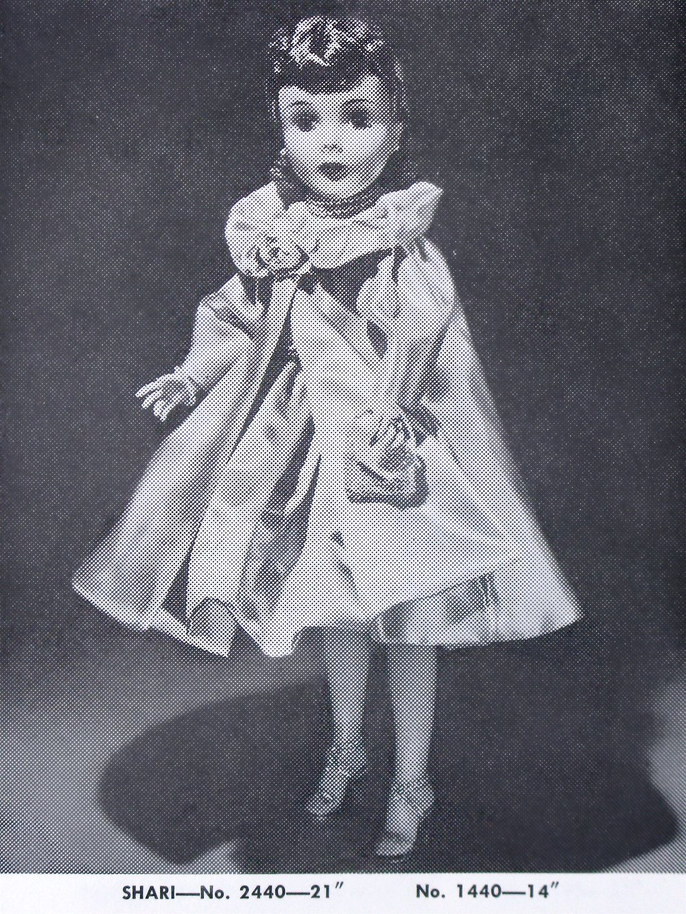 Shari Lewis No. 2440 as she appears in the pages of the 1959  Alexander Doll Company Doll Catalog .