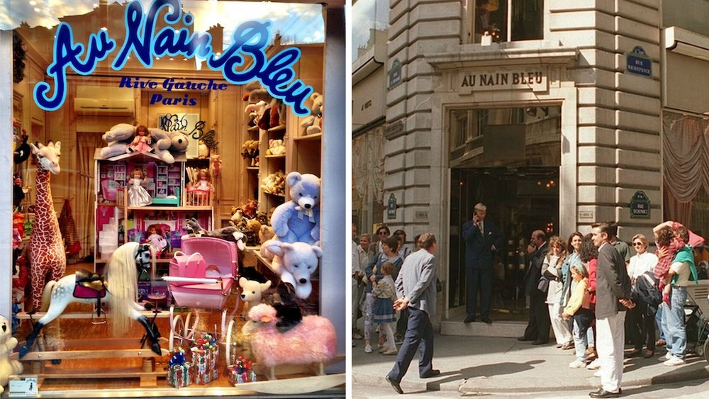 Au Nain Blue Toy Store, Paris - This legendary store (now closed) was the go-to store for Huguette Clark for purchasing Barbie's, doll houses and gifts for the children of her circle of friends.