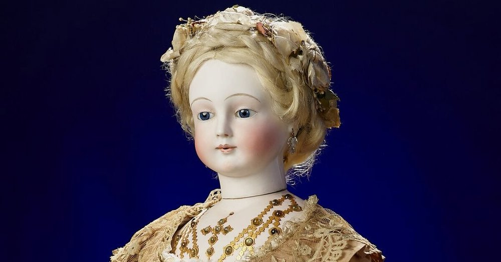 The 19th century doll, created by Antoine Edmund Rochard, at the Barry Museum. A new world record for an antique doll sold at auction was set Jan. 6, with a gavel-selling price of $335,500.