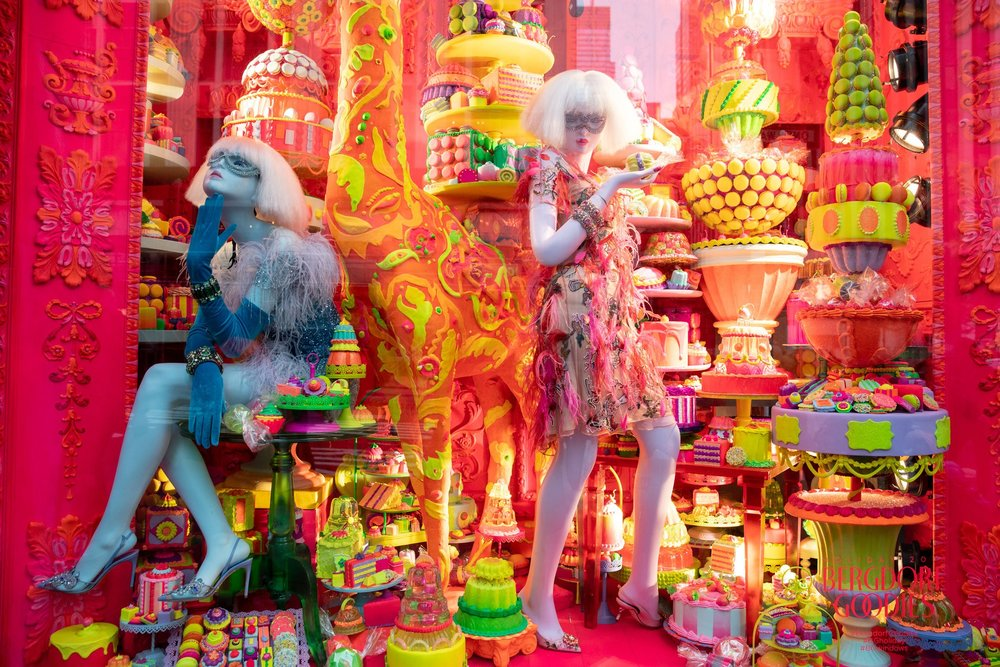Sugar rush: One of Bergdorf Goodman's 2018 holiday windows.