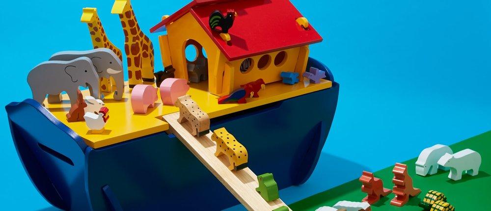 Noah's Ark Wooden Play Set