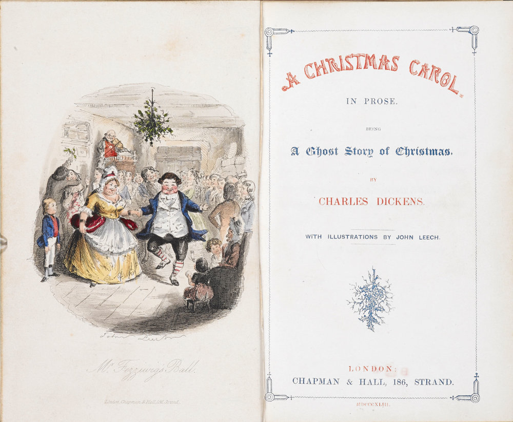 """A Christmas Carol,"" by Charles Dickens and illustrated by John Leech."