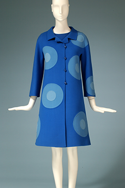 - Mila Schön, double-faced wool dress and coat, 1968, Italy, gift of Mrs. Donald Elliman.
