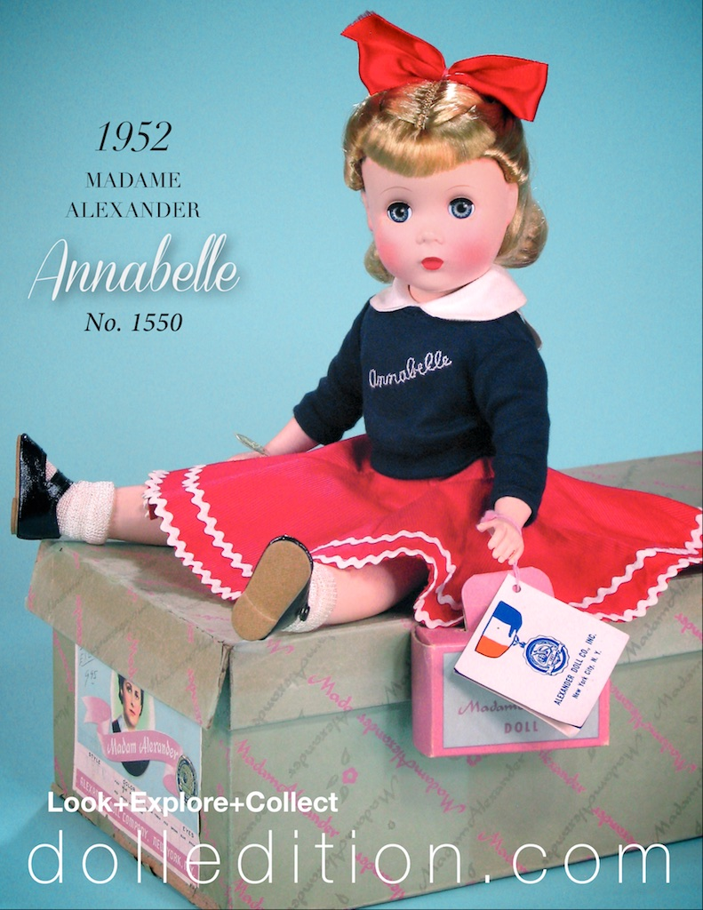 One of a number of color variations of Annabelle produced by Madame Alexander.