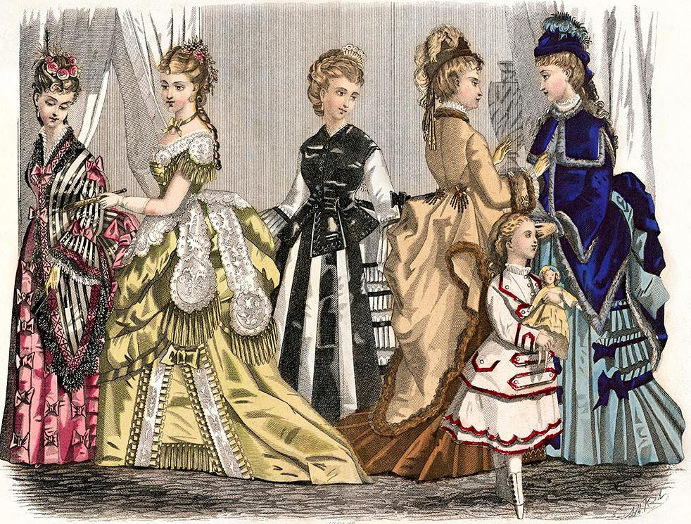 Fashion Plate from Godey's Lady's Book, March 1874