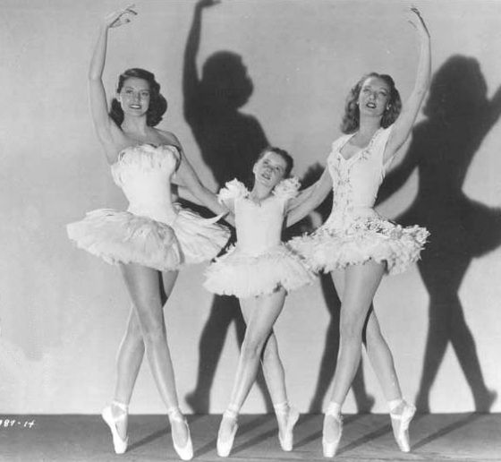 THE UNFINISHED DANCE - Left to Right: Cyd Charisse, Margaret O'Brien, Karin Booth