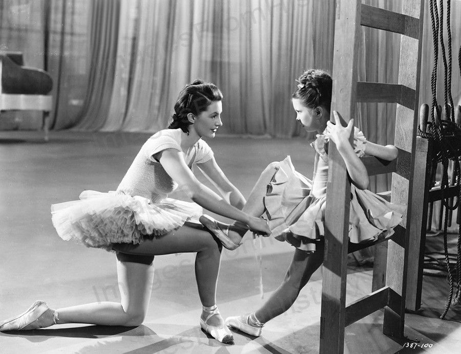 "The Unfinished Dance - Above: Cyd Charisse & Margaret O'Brien - this was young Margaret's favorite role. She studied ballet for six months for the part of ""Meg""."
