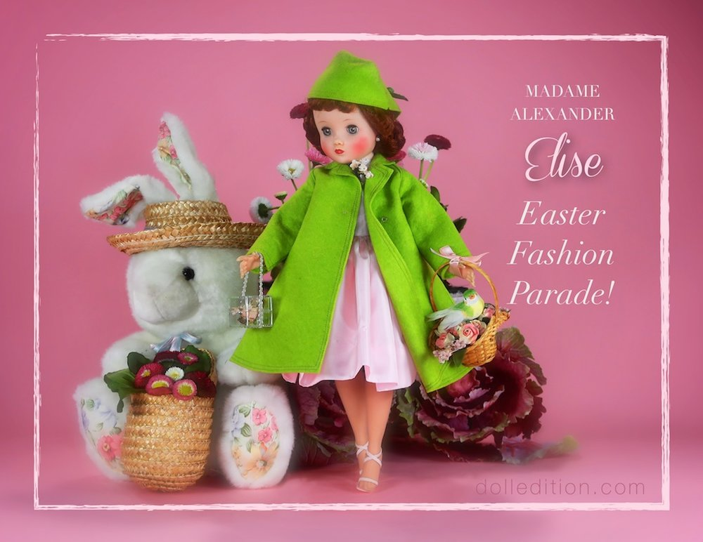 """The excitement is building as the Easter Fashion Parade approaches here at dolledition.com. """"Elise"""" has chosen her ensemble to represent the colors of an early spring garden."""