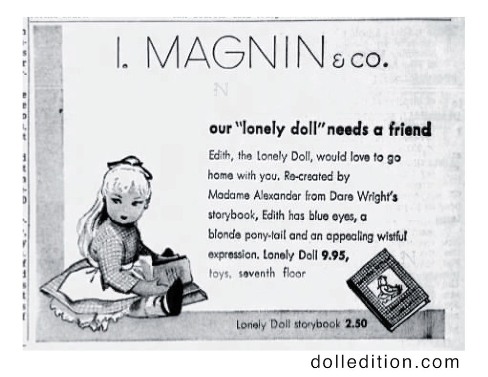 In this I. Magnin ad, both the doll and the book's author are featured. - and the fact that this store had at least seven floors. The issue of licensing was sometimes a touchy subject. The San Francisco Examiner - Tue Jul 22, 1958