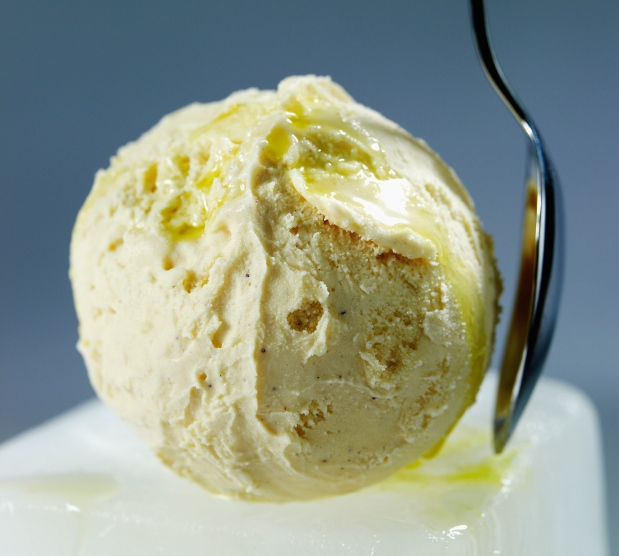 Olive Oil Drizzled Ice Cream